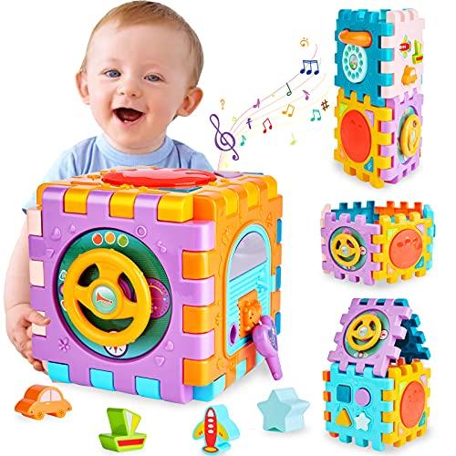 Baby Spielzeug Aktivität Würfel Lernspielzeug,6 in 1 Motorik...