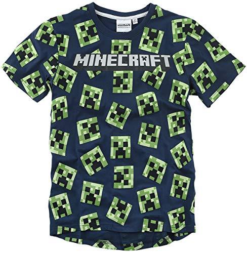 Minecraft Creeper Männer T-Shirt dunkelblau 116 100% Baumwolle...
