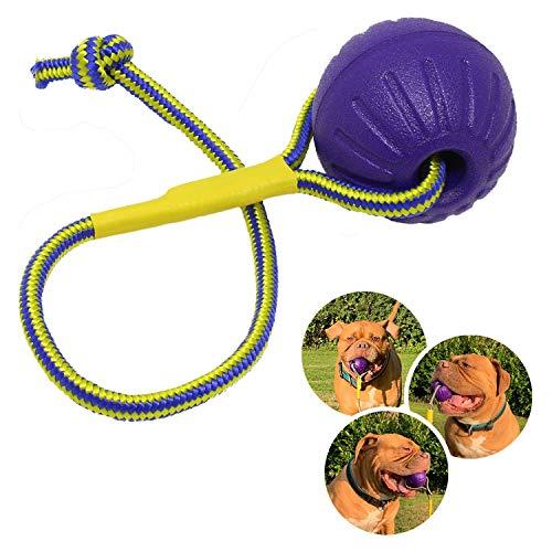 Rosi's Barf-Glück Premium Hundeball mit Seil ⌀ 7cm Hunde...