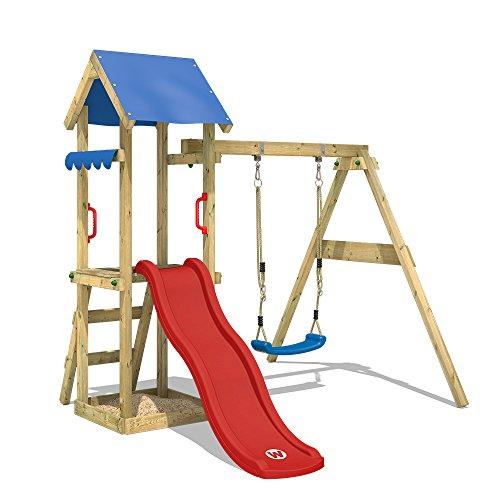 WICKEY Spielturm TinyWave Kletterturm Spielhaus mit Rutsche und...