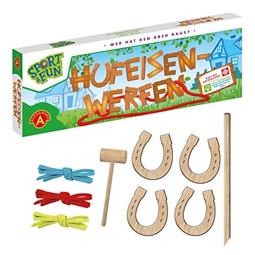 A Alexander 2437 Sport & Fun werfen, Wurfspiel Set mit 4 Holz...
