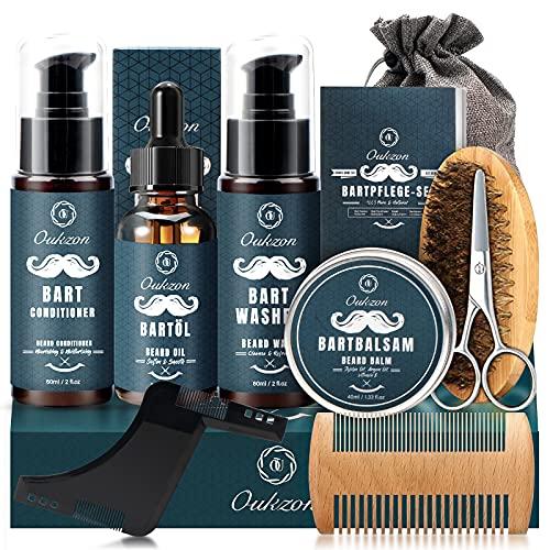 Bartpflege Set für Männer, Oukzon 10 in 1 Bartpflegeset...