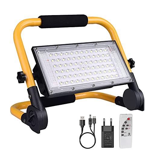 ERAY LED Baustrahler Akku, LED Arbeitsleuchte 13500mAh LED...