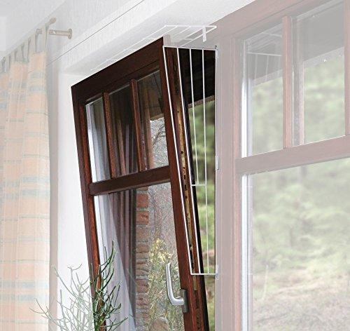 TRIXIE 2X Kippfenster-Schutzgitter, Seitenelement, weiß -...