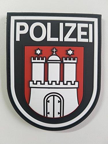ATG Ärmelabzeichen Polizei Hamburg 3 D Rubber Patch (Farbig)