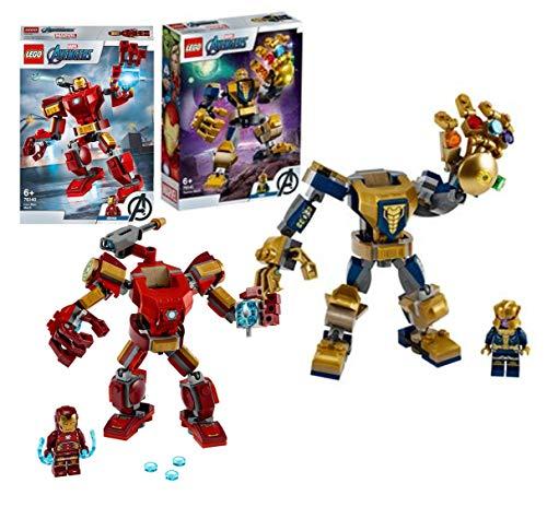 Legoo Lego Marvel Avengers Set: Thanos Mech (76141) + 76140 Iron...