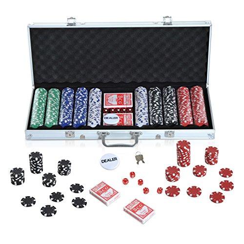 Homcom Pro Poker Koffer Pro Poker 200 oder 300 Chips 2...