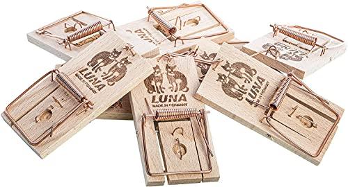 10ner Pack Neustanlo Mäusefallen aus Holz, Schlagfalle,...
