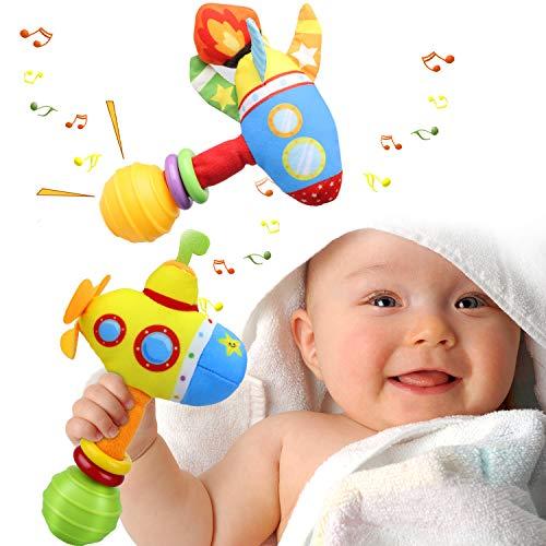 aovowog Rassel Baby Babyspielzeug ab 0 3 6 9 Monate,Greifling...