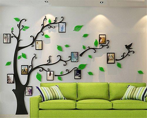Wandtattoo Baum 3D DIY Wandaufkleber Sticker mit Bilderrahmen...