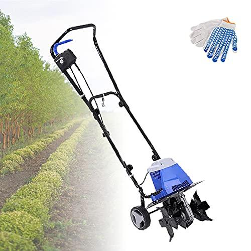 HRTX 2400W Gartenfräse Elektrisch, Klappbare Bodenfräse...