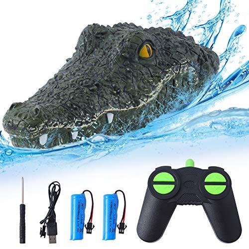 Herefun RC Boot Krokodilkopf Wasserdicht Parodie Spielzeug, 2.4G...