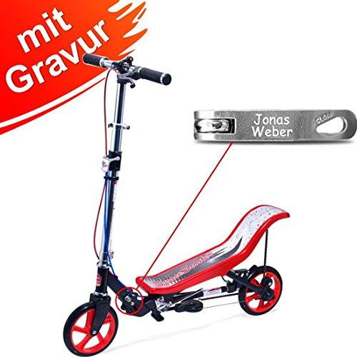 Space Scooter X 590 Premium rot MIT Gravur - für Kinder und...