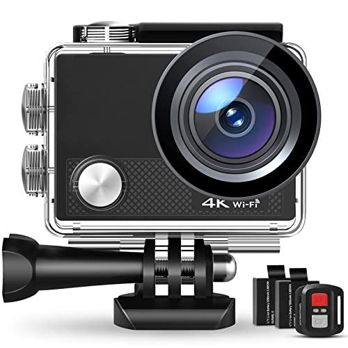 Action Cam, 4K/30FPS Wasserdicht 40M 4K Unterwasserkamera CT9000...