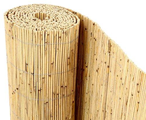 bambus-discount.com Schilfrohrmatten Premium Beach, 200 hoch x 600cm breit, EIN Produkt...