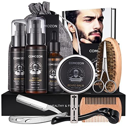 Bartpflege Set Mit Bartroller Bartwuchsmittel Für Männer...