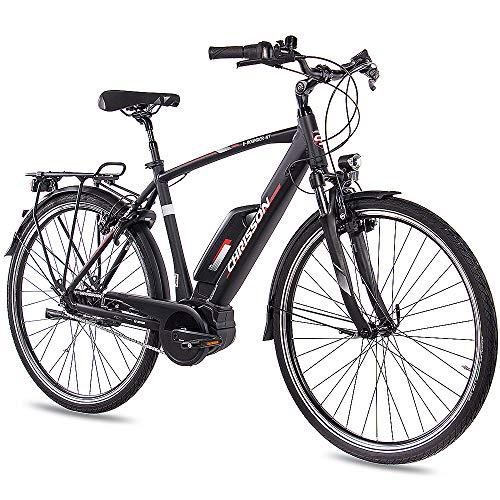 CHRISSON 28 Zoll Herren Trekking- und City-E-Bike - E-Rounder...