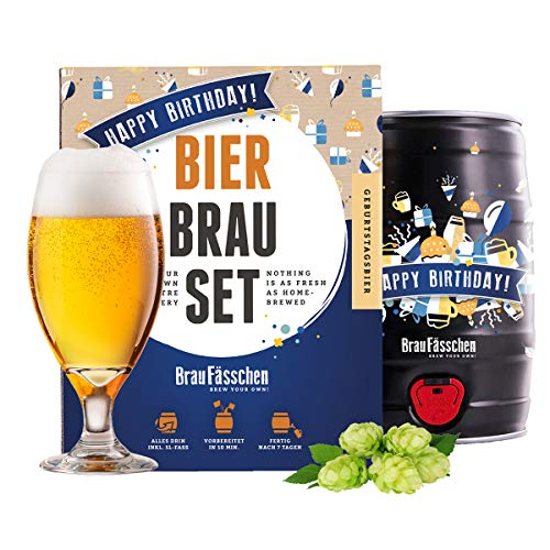 BrauFässchen Bierbrauset zum selber Brauen | Geburtstagsbier im...