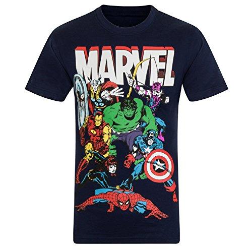 Marvel Comics - Jungen T-Shirt mit Charakteren wie Hulk, Iron Man...