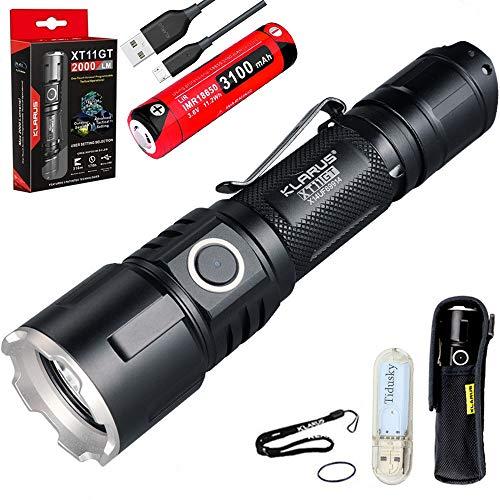 Klarus XT11GT Taktische Taschenlampe Kaltes Weiß LED Maximale...