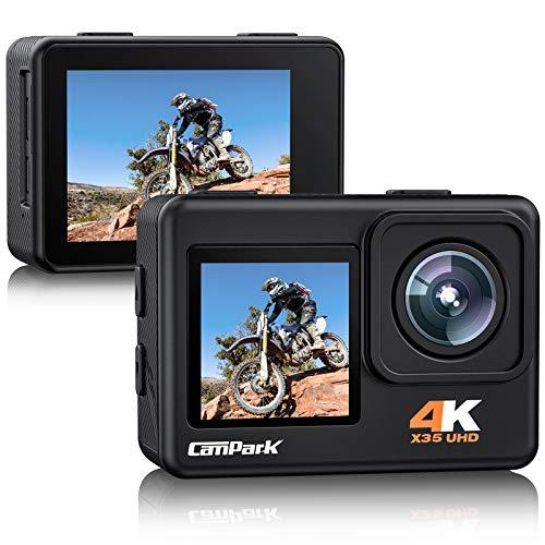 4K 24MP Action Cam Dual Bildschirm, Campark X35 Unterwasserkamera...