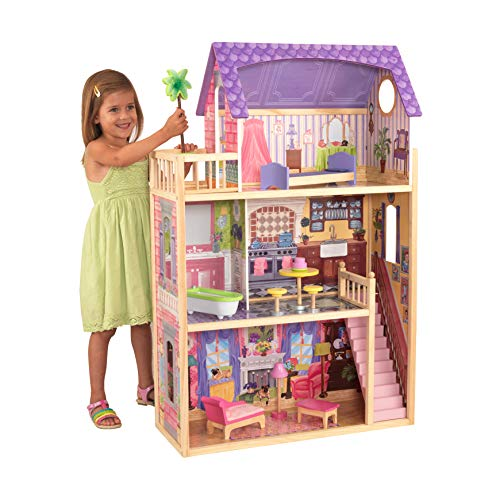 KidKraft 65092 Puppenhaus Kayla aus Holz mit Möbeln und...
