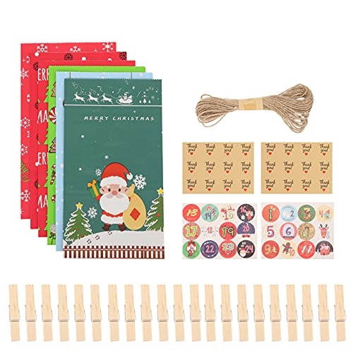 Garneck 1 Set Weihnachten Advent Kalender Taschen 2021...