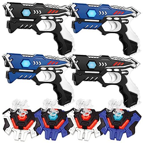 KidsFun Lasertag Set: 2 Laser Pistolen + 2 Laser Tag Weste -...