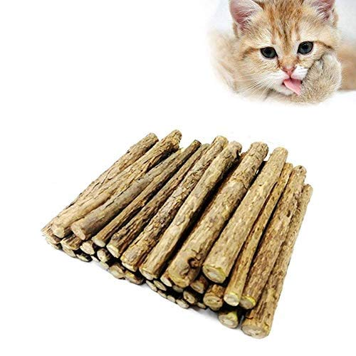 30 Stück Katzenminze Sticks, Matatabi-Kausticks, Dental...