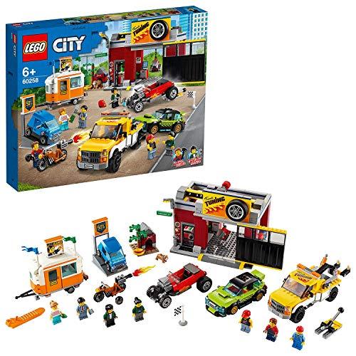 LEGO 60258 City Tuning-Werkstatt Bauset mit Abschleppwagen, Hot Rod, Wohnanhänger...