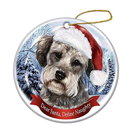 8 cm Weihnachtsanhänger - Weihnachtsdeko Holz Hund Mustern...