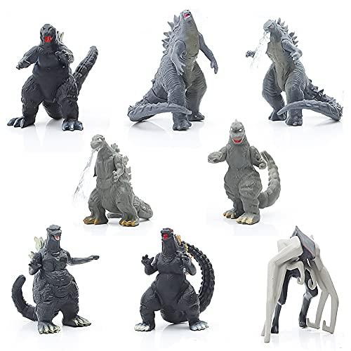 Godzilla Monsters Figuren Hilloly 8 Pcs Godzilla vs Kong Anime...