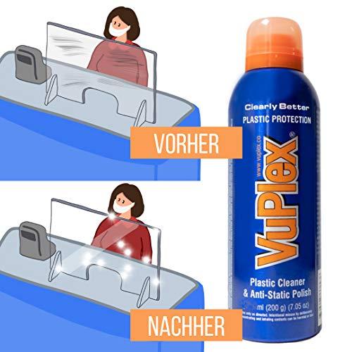 VuPlex Reiniger für Spuckschutzwände aus Plexiglas oder Acryl +...