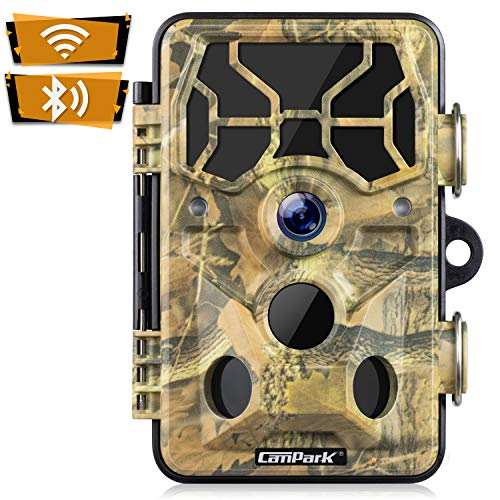 Campark WiFi Wildkamera 20MP 1296P Upgrade Bluetooth, WLAN mit...