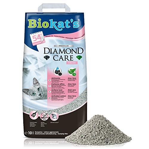 Biokat's Diamond Care Fresh mit Duft - Feine Katzenstreu mit...