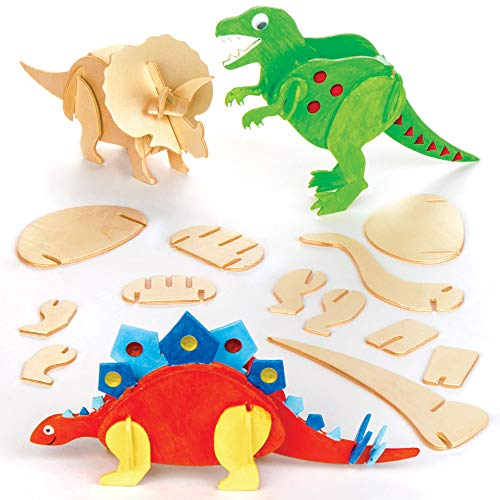 Baker Ross EK501 Holzbastelset, Dinosaurier
