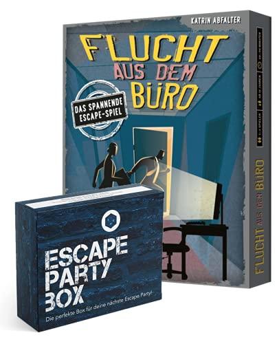 Escape Spiel - Set: Flucht aus dem Büro + Escape-Party-Box...