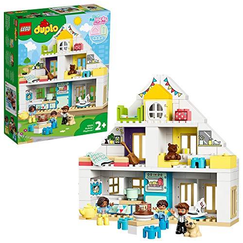 LEGO 10929 DUPLO Unser Wohnhaus 3-in-1 Set, Puppenhaus für Mädchen und Jungen ab 2...