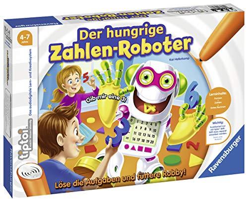 Ravensburger tiptoi Spiel 00706 Der hungrige Zahlenroboter, Lernspiel von Ravensburger ab 4...
