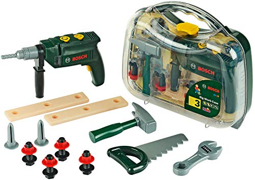 Theo Klein 8416 Bosch Werkzeugkoffer, groß I 16-teiliges...