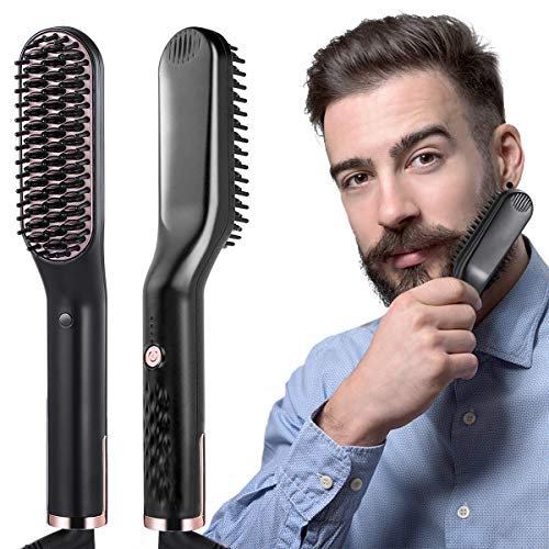 Bartglätter Kamm für Männer,Bartglätter Bürste,3 in 1...