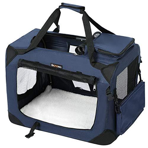 FEANDREA Hundebox, Transportbox für Auto, Hundetransportbox,...