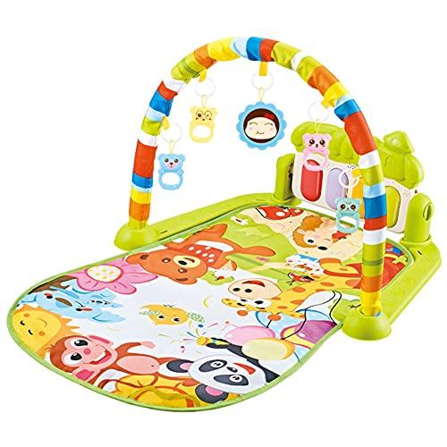JAWSEU Baby-Spielmatte, Krabbeldecke mit Musik und Lichtern,...