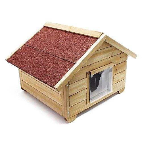 Wiltec Kleines Katzenhaus für Garten oder Terasse Katzenhütte...
