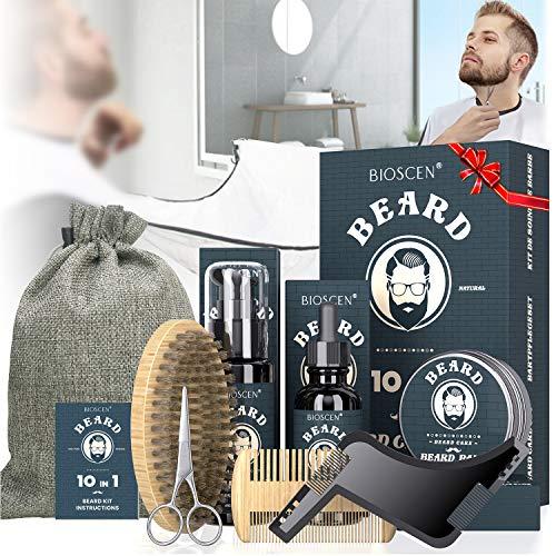 Bartpflege Geschenkset Set, 10 in1 Bartpflegeset mit Bart...