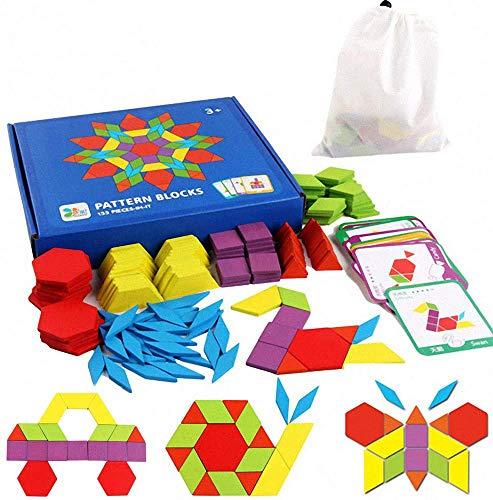 Tangram Kinder Geometrische Formen HolzPuzzles - Montessori...