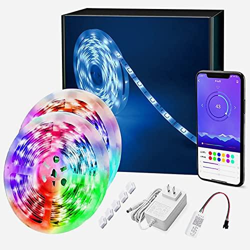 LED RGB Strip, Smart LED SMD Streifen Musik Lichterkette Mit...