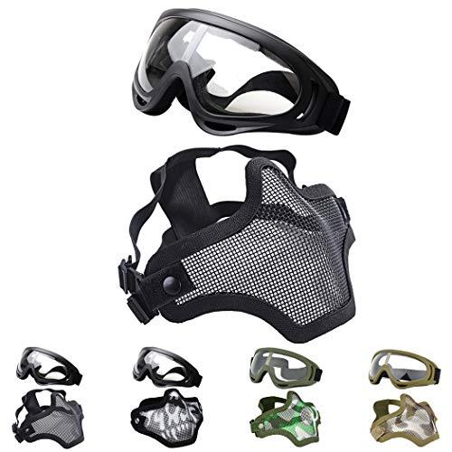 Fansport Gittermaske Airsof Paintball Maske-Halbmaske Ausrüstung...