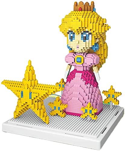 NXNX 1484 Stücke Mini Block - Prinzessin Pfirsich Bausteine...