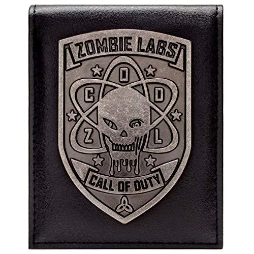 Call of Duty Zombies Silber-Abzeichen Schwarz Portemonnaie...